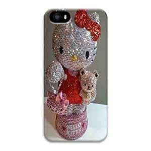 Iphone 5s Case,Hard PC Iphone 5s Protective Case for Ultimate Protect iphone 5s with hello kitty bling