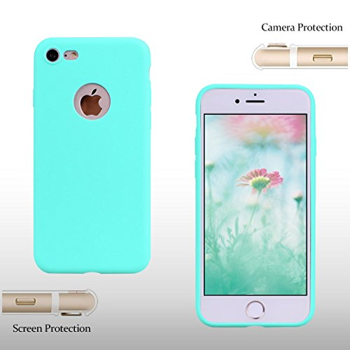 AllDo Coque pour iPhone 8, Etui TPU Silicone Housse Souple de Protection Coque Mince Léger Slim Soft Case Cover Bumper Étui Gel Flexible Coque Couleur Solide Housse de Conception Simple Couverture Ant