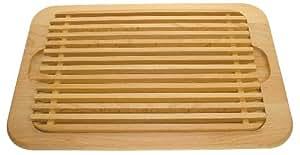 Eddingtons 432219 - Tabla de cortar pan con bandeja para migas (38,5 x 27 x 1,9 cm, madera de haya), color marrón