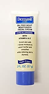 Dermasil Labs Oil Free Night Moisturizer Facial Cream 2 Fl Oz.