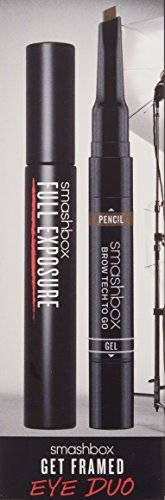 Get Framed Eye Duo Smashbox 0.1oz Brow Tech Togo Crayon Et Gel & 0.007oz Pencil - # 539 Brunette a Dual Ended Brow , 0.32oz Full Exposure - Mascara - # 001 Jet Black Women 2 Pc (Pack of 2) by Perfume World Wide (Image #2)