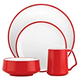 DANSK Kobenstyle 4-Piece Place Setting, Chili Red
