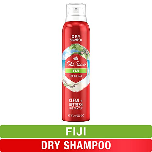 Old Spice Dry Shampoo for Men, Fiji Scent, Hair Treatment, 4.9 Oz (Best Shampoo For Dry Hair Male)