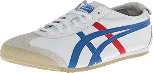 Onitsuka Tiger Mexico 66 Fashion Sneaker, White/Red/Blue, 11.5 M Men's US/13 Women's M US]()