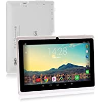 iRULU 7 inch Tablet Google Android 6.0 Quad Core 1024x600 Dual Camera Wi-Fi Bluetooth,1GB/8GB,Play Store Netfilix Skype 3D Game Supported GMS Certified with One Year Warranty iRULU X37-White