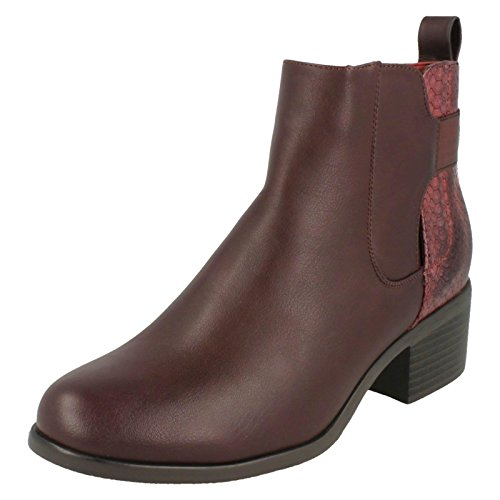 Chelsea To Burgundy Red Heeled Earth Ladies Down Boots xgzZIId