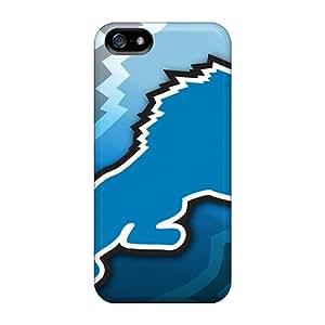 Apple Iphone 5/5s ZmF15066GTut Support Personal Customs Stylish Detroit Lions Nfl Skin Great Hard Phone Covers -WandaDicks