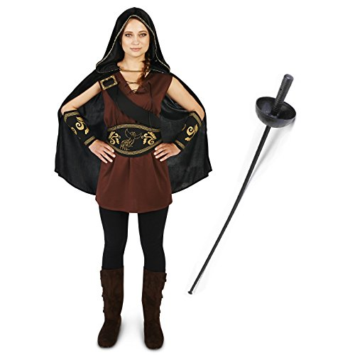 Northern Princess Warrior Adult Costume (Khaleesi And Jon Snow Costume)