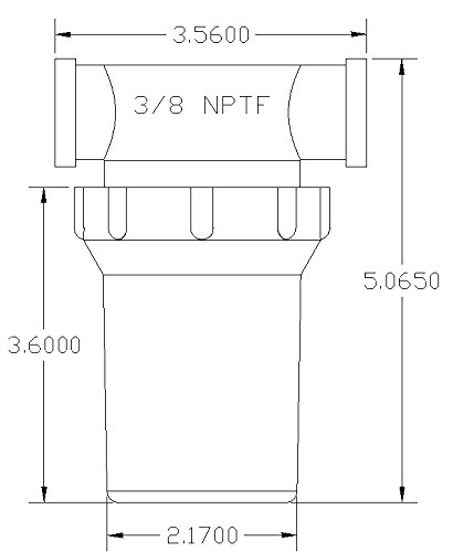 3/8'' Female NPT In-Line Strainer with 50 mesh stainless steel screen