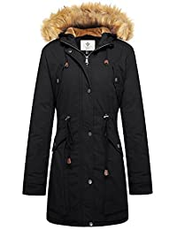 WenVen Women's Windproof Sherpa Lined Parka Jacket