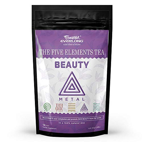 Beauty Tea for Rejuvenating Complexion - Herbal Tonic to Improve The Texture of Skin, Perfect Natural Antioxidants to Fight Free Radicals, Nourish Beauty From The Inside Out - Tasty and Easy Brewing