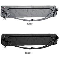 Iumer Oxford Waterproof Yoga Mat Bag Carrier Bag Yoga Sling Bag Carry Bag,Black,as description