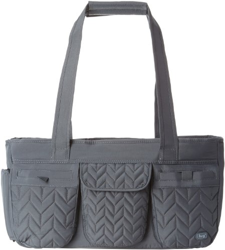 Lug Streetcar Short Tote, Fog Grey, One Size, Bags Central