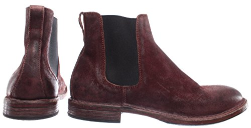 MOMA Chaussures Homme Bottes 66705-R2 Pelle Cuir Bordeaux Vintage Made in Italy g7FelK30