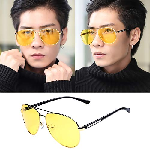 Men's Sunglasses Polarized Sunglasses 2018 Wave People yurt Chauffeur-Driven car Money Eyes Personalized Glasses Star ((nvg) Yellow Gold Sheet Block Non-Polarized (Best Nvg For The Money)