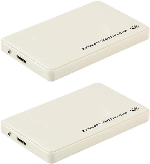 gazechimp USB3.0 外付けハードドライブ 1TB 2.5インチ HDD MacBook Xbox 360用 ホワイト 2個セット