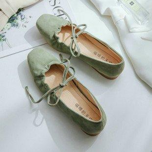 de la Qiqi baja la de cabeza la Xue hembra con parte de Zapatos las zapatos verde solo zapatos iluminan Luz Los artes ballet mujeres de Corte pajarita ocio 67wwqdE