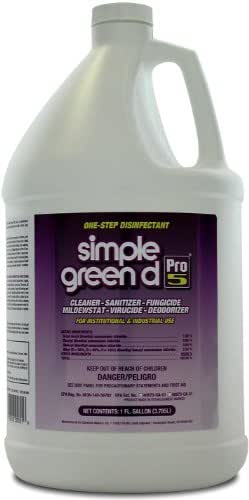 Simple Green d Pro 5 Disinfectant, 1 gal Bottle (Case of 4)