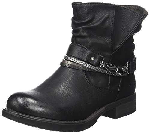 3795602 Noir Mujer Tailor Tom Estilo Botas Black Motero qwR4w5Hp