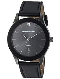 Geoffrey Beene Men's Quartz Metal and Polyurethane Dress Watch, Color Black (Model: GB8122GU)