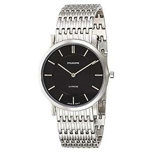 Starking Men's Black Dial Stainless Steel Band Watch - BM0868SS12