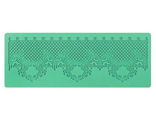 Cake Company Magic Decor Silikonmatte für essbare Spitzen-Deko | 135 x 368 mm |Silikon-Matte zum Backen in Royal Barock-Optik| Spitzen Präge-Bordüren für atemberaubende Verzierungen von Torten