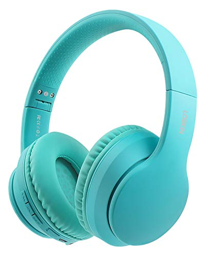 Lobkin Over The Ear Headset Bluetooth with Microphone, Wireless Hi-Fi Sound Stereo Noice Reduce Steel Foldable Protein Earpads for Class, Business Home Office/TV/PC/Phone/Gaming Headphones (Green)