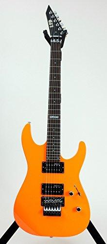 Body Guitar Esp (ESP LM50FRNOR Solid-Body Electric Guitar, Neon Orange)