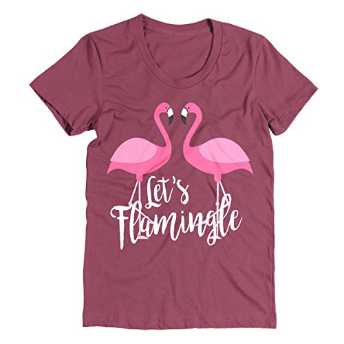 Flamingle Shirt White Letters - Blogs Pink