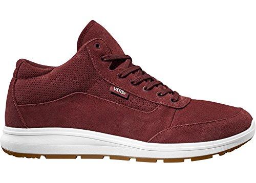 (Vans Style 201 Perf Womens 12.5/Mens 11 Madder Brown True White Fashion Sneaker)