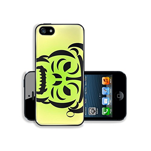 Luxlady Premium Apple iPhone 5 iphone 5S Aluminium Snap Case angry beast IMAGE ID 5610985