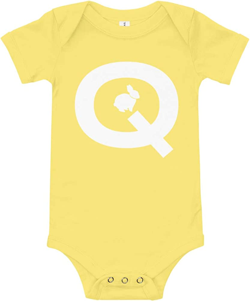 Qanon Q Baby Onesie Q Anon White Rabbit WWG1WGA Baby Baby Boys ...