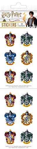 Playhouse Harry Potter Houses of Hogwarts Crests Pack of Three Perforated Sticker Sheets ()