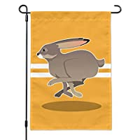 Graphics and More Jackrabbit Running Racing Garden Yard Flag