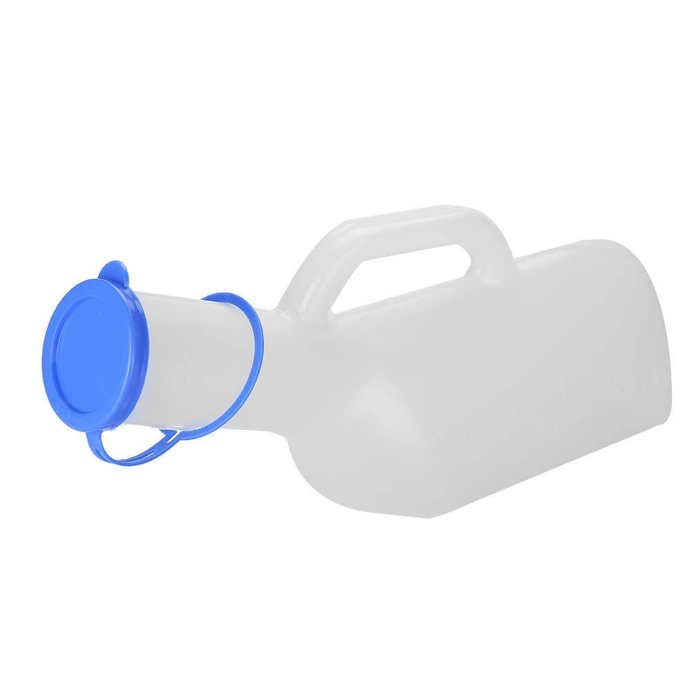 Urine Bottle, Portable Reusable High Capacity Male Urinal Ruler, Urine Container Bottle for Men, Children, Mobility of the Elderly, after Surgery, 1000ml by TMISHION