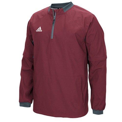 adidas Mens Fielder's Choice Convertible Jacket, Collegiate Burgundy/Onix Grey, X-Large (Burgundy Workout Jacket)