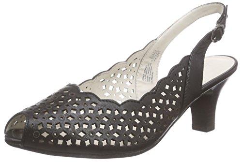 Gerry Weber Kitty 03 - Zapatos de Talón Abierto Mujer Negro - negro