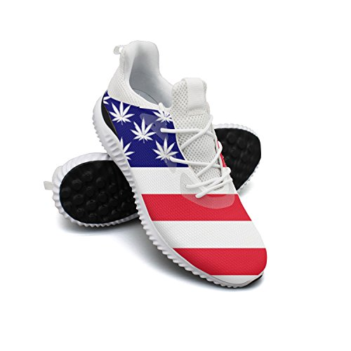 Ddkafjfj American Flag Pot Stars Man's Exclusive Basketball Sneakers Lightweight Breathabl Walking Shoes - Jeep Blanket