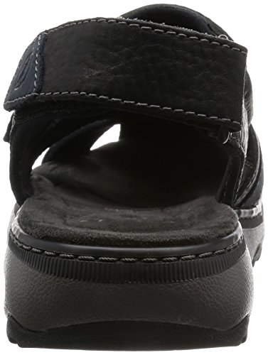Leather bay Sandali Raffe Black Uomo Clarks Nero xqaO8fznwB