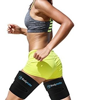 BODYMATE Thigh Trimmers/Slimmers | Includes 2 Premium Shapers Workout Sports Enhancer Belt/Wrap Muscle Toning Research Master Leg Support Fat Burning Body Weight Loss Women & Men