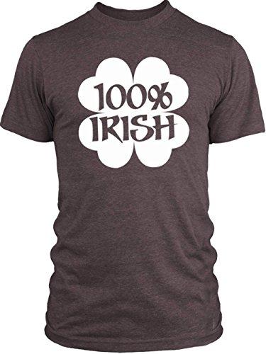 Vintage Shamrock Tri Blend (Big Texas 100% Irish Shamrock (White) Vintage Tri-Blend T-Shirt, Vintage Purple,)