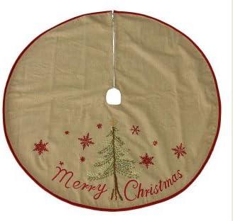 """Jaclyn Smith Midnight Clear 48"""" Christmas Tree Skirt - Merry Christmas"""