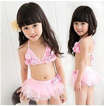 ce510299372 Amazon.co.jp: ツバメ--屋 ベビー水着 女児水着 ビキニ スイミング ...