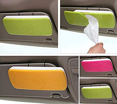 Car Sun Visor Tissue Paper Box Holder Auto Seat Back Hold Clip Bracket YU