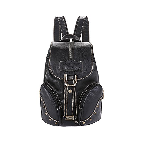 Lycailcy LYC-Lycailcy-A05-5 - Bolso mochila  para mujer Marrón Light Brown(10.2 x 5.9 x 14.2 inches) talla única Black(10.2 x 5.9 x 14.2 inches)