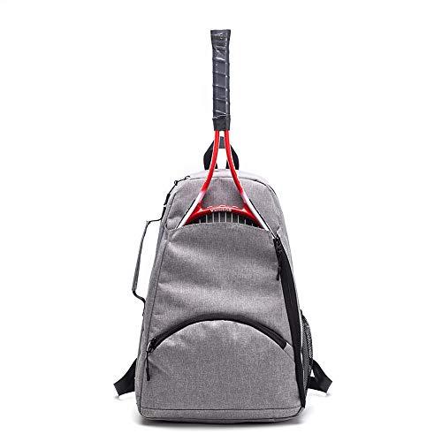 Tennis Backpack,Tennis Racket Holder Bag, Large Capacity Tennis & Racquet Sports Duffle Bag, 36LTennis/ Racquetball/Squash Equipment Bag for Men, Women and Teenagers (Grey)