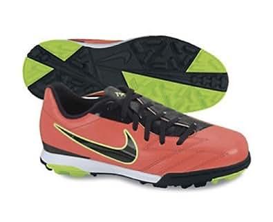 Nike Kids's NIKE JR T90 SHOOT IV TF INDOOR SOCCER SHOES 6 Kids US (BRGHT CRMSN/DRK OBSDN/ELECTRC G)