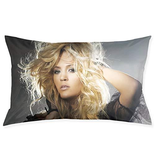 David E Everett Carrie Underwood Pillowcase Sofa Home Furnishing Pillowcase Cushion Cover Long Pillowcase Size 20x30 in
