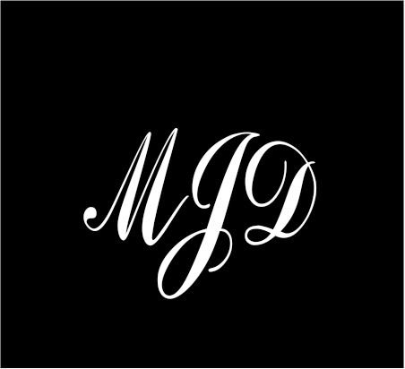 6-white-monogram-3-letters-mjd-initials-script-style-vinyl-decal-for-cup-car-computer-any-smooth-sur