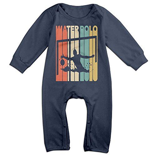 Stripe Polo Coverall - Newborn Kids Organic Coverall Vintage Style Water Polo Silhouette Infant Long Sleeve Romper Jumpsuit